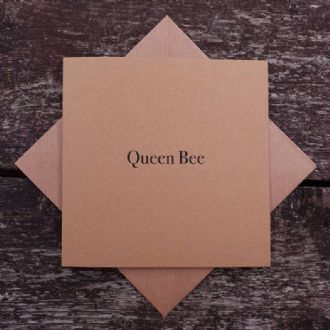Quality Kraft Queen Bee Greeting Card - 'Queen Bee' - Urban Kraft Collection